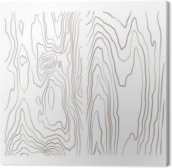 Leinwandbild Verschiedene monochrome Holz Textur Sammlung Illustration.