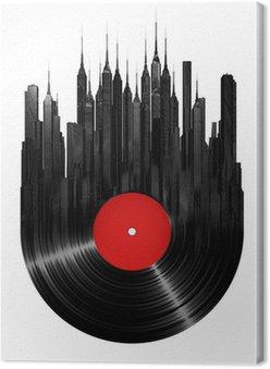Leinwandbild Vinyl Stadt