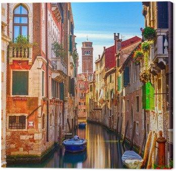 Leinwandbild Wasserkanal in Venedig