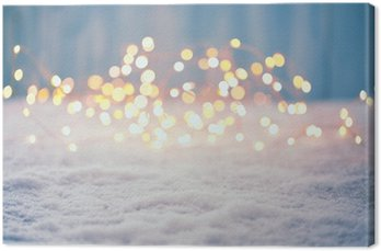 Leinwandbild Weihnachten Bokeh Hintergrund