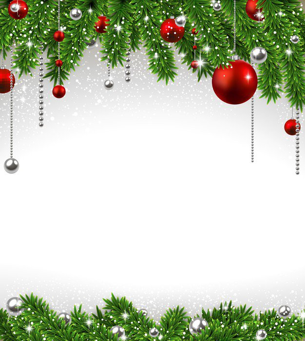 leinwandbild weihnachten hintergrund mit tannenzweigen und. Black Bedroom Furniture Sets. Home Design Ideas