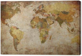 Leinwandbild World map