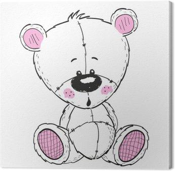 Leinwandbild Zeichnung Teddy