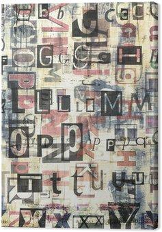 Leinwandbild Zeitung, Zeitschrift Collage Grunge-Hintergrund