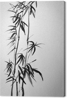 Leinwandbild Zwei Bambus