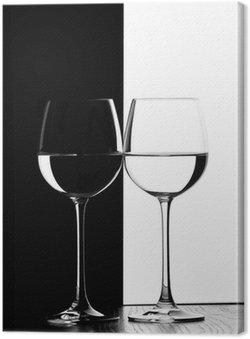 Leinwandbild Zwei Gläser Wein