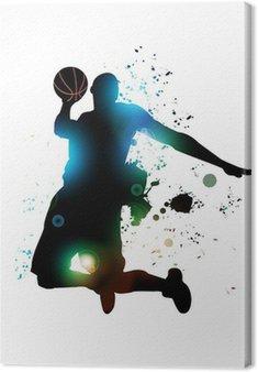 Lerretbilde Abstrakt Basketball Player