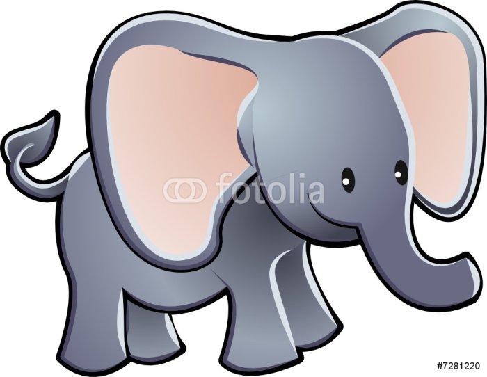 Lovable Elephant Cartoon Vector Illustration
