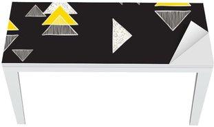 Masa Çıkartması Dikişsiz elle çizilmiş üçgenler desen.