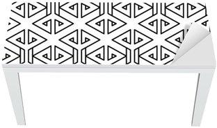 Masa Çıkartması Soyut geometrik siyah ve beyaz yenilikçi moda yastık deseni