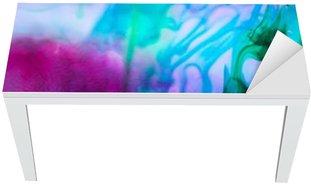 Mat- och Skrivbordsdekor Abstrakt komposition med bläck och små bubblor. Vacker bakgrund, konsistens och färg