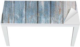 Mat- och Skrivbordsdekor Blå vintage trä bakgrund