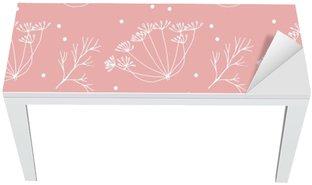 Mat- och Skrivbordsdekor Dill eller fänkål blommor och lövmönster.
