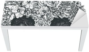 Mat- och Skrivbordsdekor Flower skalle vektor