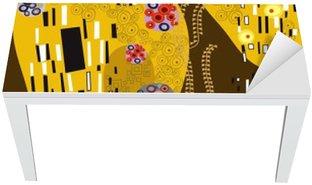 Mat- och Skrivbordsdekor Klimt inspirerad abstrakt konst