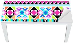 Mat- och Skrivbordsdekor Neon aztec trycket ~ sömlös bakgrund