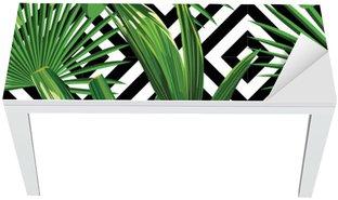 Mat- och Skrivbordsdekor Tropisk palmblad mönster, geometrisk bakgrund