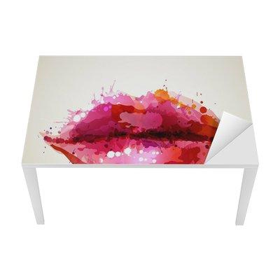 Mat- och Skrivbordsdekor Vacker kvinnas läppar bildade av abstrakta blöts