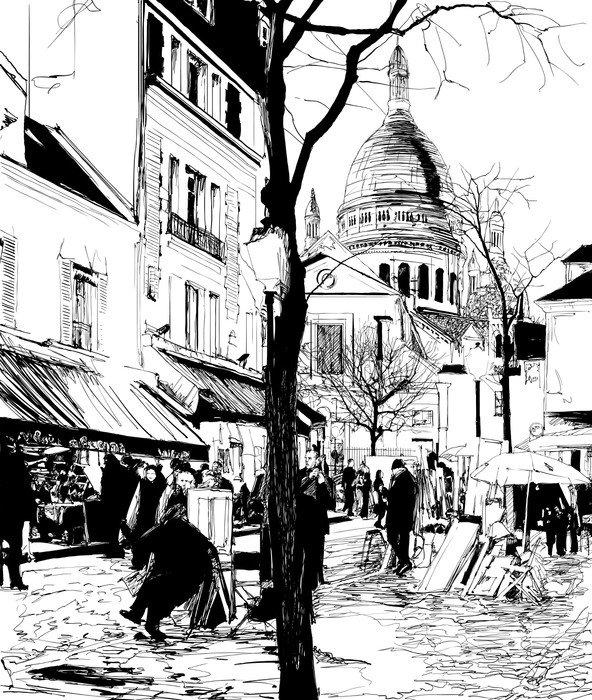 Montmartre in winter