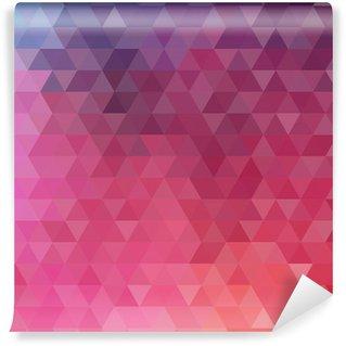 Mural de Parede em Vinil Abstract color triangle background
