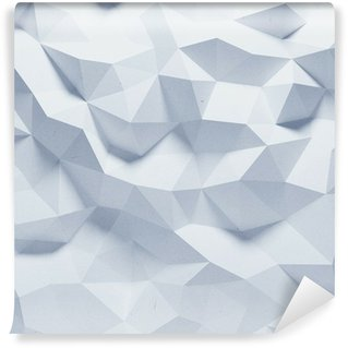 Mural de Parede em Vinil Abstract faceted geometric paper background