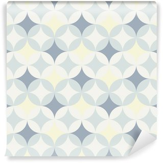 Mural de Parede em Vinil abstract retro geometric pattern