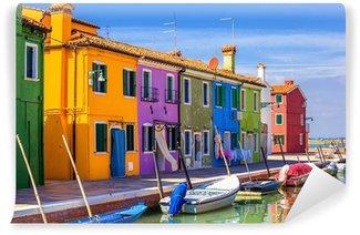 Mural de Parede em Vinil architecture of Burano island. Venice. Italy.