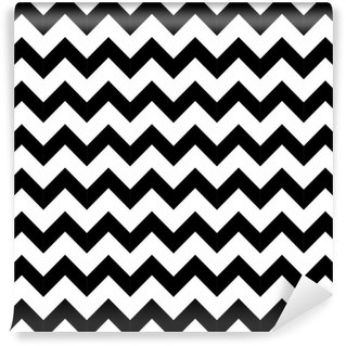 Mural de Parede Autoadesivo Abstract geometric zigzag seamless pattern. vector