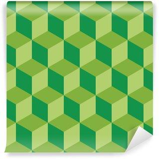 Mural de Parede em Vinil Design plano padrão quadrado geométrico ilustração vetorial fundo