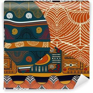 Mural de Parede em Vinil Ilustração pattern.Vector emenda colorida indiana
