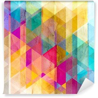 Mural de Parede Lavável Aquarela Fundo geométrico com triângulos