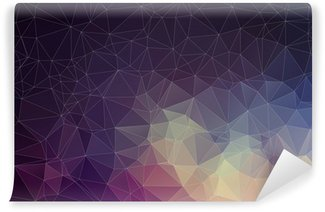 Mural de Parede Lavável Colorful geometric background with triangles