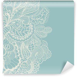 Mural de Parede Lavável Decorative element border. Abstract invitation card. Template wa