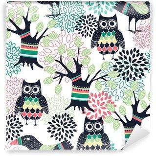 Mural de Parede Lavável Forest seamless pattern