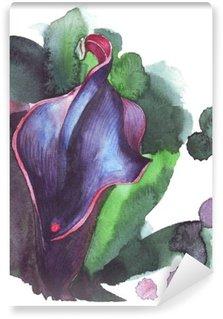Mural de Parede Lavável Ilustração da flor calla aguarela