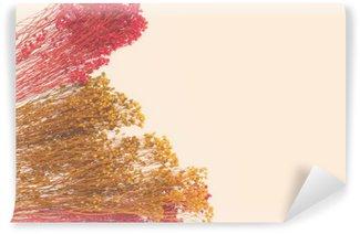 Mural de Parede Lavável Pequenas flores decorativas com pintados à mão. espaço para o designer, lugar para o texto
