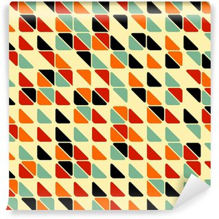 Mural de Parede Lavável Retro abstract seamless pattern with triangles