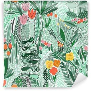 Mural de Parede Lavável Tropical padrão floral sem emenda