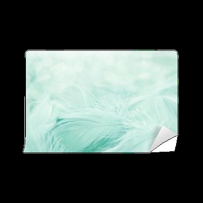 Mural de Parede em Vinil Soft fluffy feathers