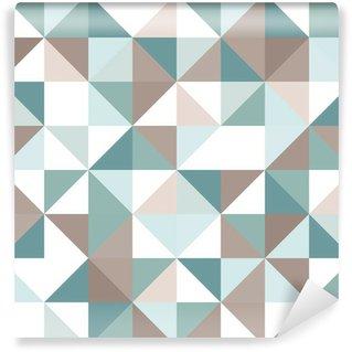Mural de Parede em Vinil Triangle seamless pattern
