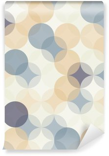 Mural de Parede em Vinil Vetor moderno sem emenda círculos padrão de geometria coloridos, fundo da cor abstrato geométrico, impressão papel de parede, textura retro, de design moderno moda, __