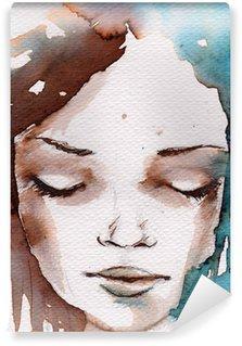 Mural de Parede em Vinil Winter, cold portrait