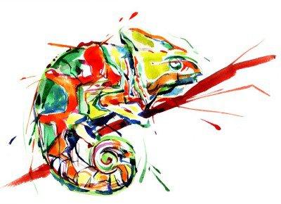 Muursticker Chameleon