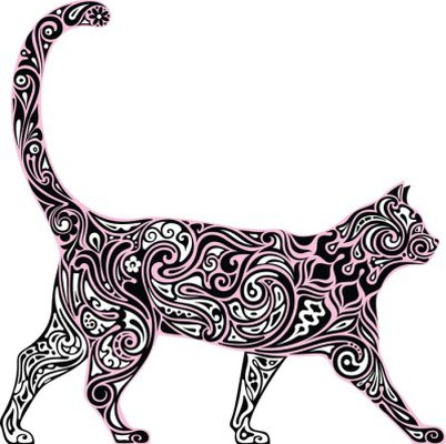 Muursticker Decoratieve Cat