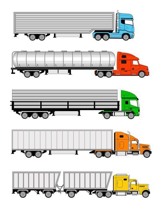 Obraz na Płótnie Naczepy ciężarówki - Transport drogowy