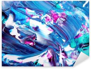 Naklejka Pixerstick Abstract Art tle. Self made akrylowa tekstury