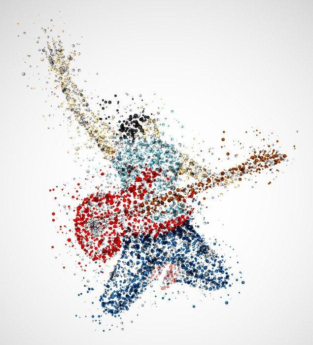 Naklejka Abstract gitarzysta - Tematy