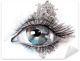 Naklejka Pixerstick Abstrakcyjne oko (seria C)