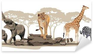 Naklejka Pixerstick Afrykańskie zwierzęta