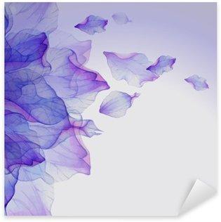 Naklejka Pixerstick Akwarela kwiatowe wzory rundy.